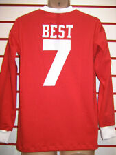MANCHESTER UNITED 1960's GEORGE BEST NO. 7 REPLICA RETRO SHIRT (LONG SLEEVE)