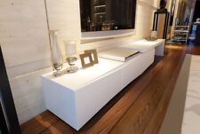 3 M New High Gloss White TV Stand Entertainment Unit Lowline Adjustable Drawer