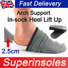 Invisible Arch Support Height Increase Heel Lift Pads Taller Insoles Inner sole