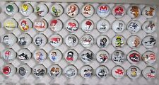 50 Advertising & Cartoon Logo 1 Inch Marbles Great For Collecting / Resale lot E