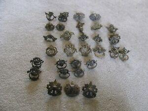 30 Antique Vintage Single Hole Drawer Pulls MISC Lot J