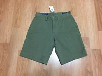 """Polo Ralph Lauren Men's Flat Chino Classic Fit 9"""" Cotton Twill Shorts Olive NWT"""