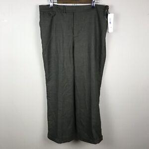 Lauren Ralph Lauren houndstooth 100% Wool pants 16W NWT $169