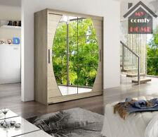 "Brand New Wardrobe ""WENDY 8"" Double Mirror Sliding Doors Shelves 150cm 4 COLOURS"