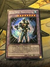 *** MASKED HERO ACID *** ITALIAN (LP) SECRET RARE PRC1-EN018 YUGIOH!