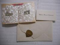 1928 Tupper Plains Joint High School Commencement Invitation Ohio