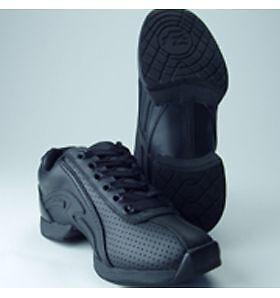 Capezio Frontline Dance Sneakers Adult JS03 Black New In Box