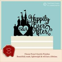 Cinderella Castle Cake Topper, Fairytale Princess Personalised Wedding Disney