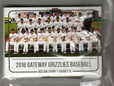 2016  GATEWAY GRIZZLIES TEAM SET COMPLETE NEW FRONTIER LEAGUE
