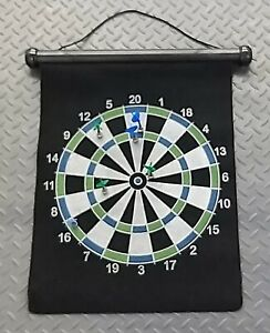 GADGETSHOP 2 in 1 MAGNETIC ROLL UP DART BOARD, HARDLY USED