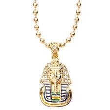 Iced Out Bling Fashion Chaîne - MICRO Pharaon Roi or
