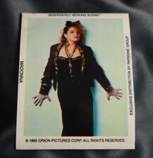 MADONNA DESPERATELY SEEKING SUSAN STICKER  1985 #4 OFFICIAL ORION PICTURES