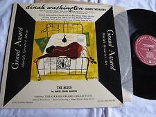 Mint Dinah Washington Sings the Blues DSM cover Grand Award mono original
