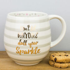 New Creative Tops Gold & Stripes Don't Dull Your Sparkle Personalised Gift Mug
