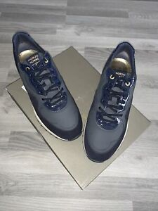 ANDROID HOMME SANTA MONICA BLACK LEATHER TRAINERS UK 8 / EU42 / US 9