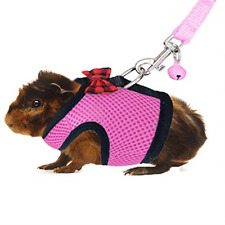 Guinea Pig Harness and Leash Soft Mesh Small Pet Harness with Safe Bell No Pull