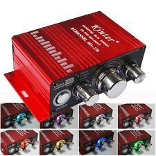 MA-170 Mini 12V 20W Hi-Fi Stereo Amplifier Booster DVD MP3 Speaker for Car RED