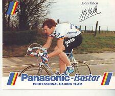 CYCLISME carte  cycliste JOHN TALEN  équipe PANASONIC isostar 1988