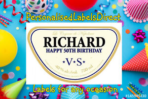 PERSONALISED COURVOISIER BOTTLE LABEL - PARTY / BIRTHDAY / WEDDING OCCASION