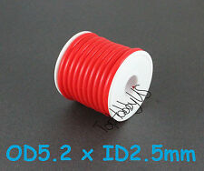 1Roll (16 ft) Red Silicone RC Nitro Fuel Line Tubing D5.2xø2.5, (US Seller)