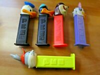 LOT OF 5 PCS PEZ DISPENSER CANDY WALT DISNEY RARE FIGURE/FIGURINE SET #001
