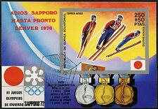 Guinea Ecuatorial 1972 Juegos Olímpicos de Invierno Cto utilizado Imperf m/s #a 92641