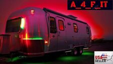RV LED Camper Awning Boat Trailer Light Set Wireless Remote RGB 17FT Waterproof