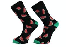 Homme Coton Riche Pastèque Design Funky Socks utilisation quotidienne