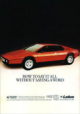 LOTUS ESPRIT RETRO A3 POSTER PRINT FROM CLASSIC 70'S ADVERT 1979