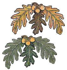 Acorn & Oak Leaf 25 Leaves Green Brown Wallies Wall Decals Stickers Decor Fall