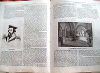 1839 BELLISSIMA VEDUTA TOMBE DI SAN DIONIGIO A PARIGI E OPERA FERDIN. CAVALLERI