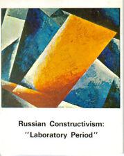 RUSSIAN CONSTRUCTIVISM LABORATORY PERIOD ART CATALOGUE