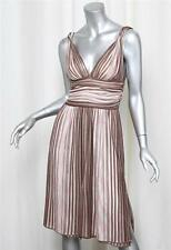 MISSONI Womens Pink+Brown Striped Knit Sleeveless Knee-Length Sun Dress 40/4