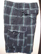Boys size 10 Shorts - Black Plaid w/ Green - Unionbay Cargo Shorts