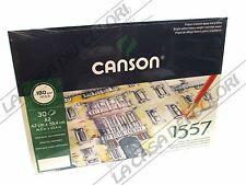 CARTA CANSON 1557 - 180 g/mq - A2 - BLOCCO COLLATO LATO LUNGO