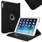 360 Rotating Case Cover with Built-in Wireless Bluetooth Keyboard for Apple iPad