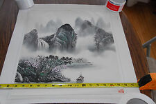 BIG Vintage Chinese Watercolor Mountain Painting China Original Art Lot 1 Signed