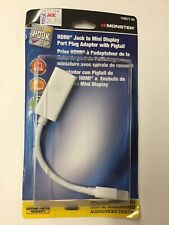 """Monster Cable Adapter Hdmi Female Jack 6 """" Carded"""