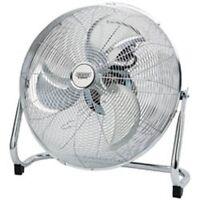 "DRAPER HV16 Chrome Oscillating Industrial Floor Fan 16"" 415mm Home Office Gym"