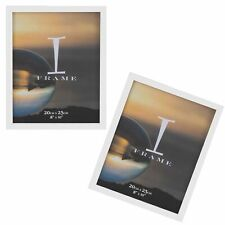"2 Pack Plain Photo Frames iFrame - White 8""x10"""