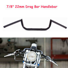 "7/8"" 22mm Motorcycle Handlebar Drag Bar Black For Honda Yamaha Suzuki"