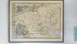 Framed Map of the Catholic Netherlands in 1667; Pays Bas Catholiques, 53 x 41 cm