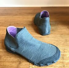 Skechers Womens Gray Bikers Runaway 49349  Memory Foam Ankle Boots Sz 7