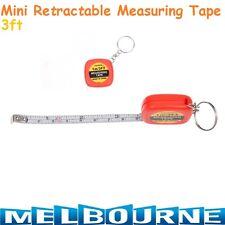 1M Mini Retractable Measuring Ruler Tape Measure Tailor Sewing Cloth Keyring #SB