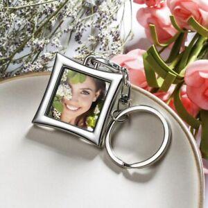 Mini Insert Heart Photo Frame Keychain DIY Keyring Ring KeyfobDIY Photos Keyring