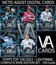 Topps Bunt Top 100 2021 COMPLETE LIGHTNING RARE Set - 100 Cards [BUNT APP]