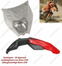 HEADLIGHT FELIX APPROVED WHITE AND MUDGUARD RED BETA 450 350 125 50 RR ENDURO