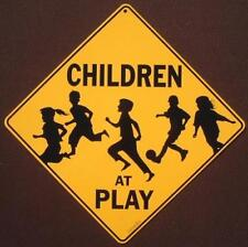 CHILDREN AT PLAY CROSSING Sign aluminum print picture decor home novelty signs