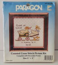 Paragon Counted Cross Stitch Picture Kit HOME IS BEST NIP 8108 sealed
