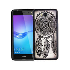 Huawei Y5 2017 Hülle Case Handy Cover Schutz Tasche Schutzhülle Bumper Schwarz